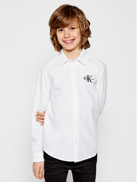 Calvin Klein Jeans Calvin Klein Jeans Koszula Monogram IB0IB00567 Biały Regular Fit