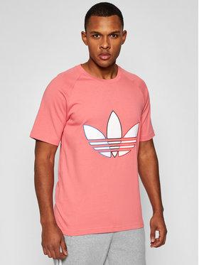 adidas adidas Marškinėliai Tricol Tee GQ8916 Rožinė Regular Fit
