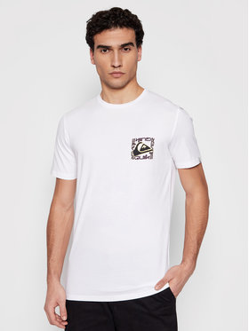 Quiksilver Quiksilver T-Shirt Isle Of Stoke EQYZT06322 Bílá Classic Fit