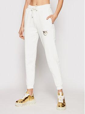 Pinko Pinko Teplákové kalhoty Carpio PE 21 BLK01 1G1638 Y72Z Bílá Regular Fit