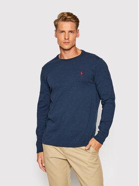 Polo Ralph Lauren Polo Ralph Lauren Тениска с дълъг ръкав Lsl 710671468043 Тъмносин Slim Fit