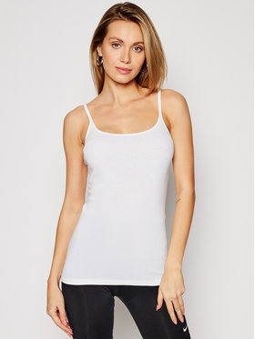 Triumph Triumph Top Katia Basics 10181825 Biały Slim Fit