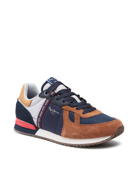 Pepe Jeans Pepe Jeans Sneakersy Tinker Zero Tape PMS30772 Hnedá