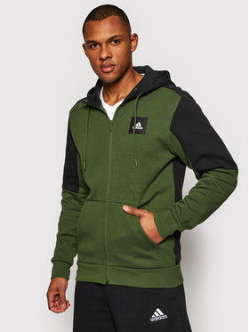 adidas adidas Bluză Must Haves Stadium GM6344 Verde Regular Fit