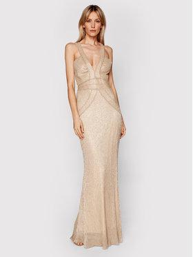 Babylon Babylon Sukienka wieczorowa N_MF5003 Złoty Slim Fit