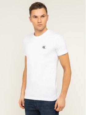 Calvin Klein Jeans Calvin Klein Jeans T-Shirt Tee Shirt Essential J30J314544 Bílá Slim Fit