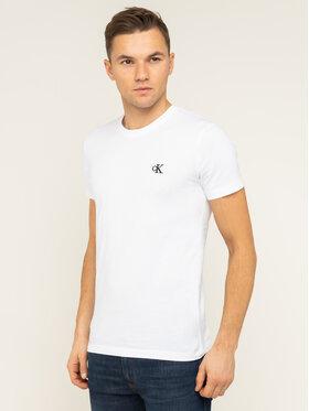 Calvin Klein Jeans Calvin Klein Jeans T-shirt Tee Shirt Essential J30J314544 Blanc Slim Fit