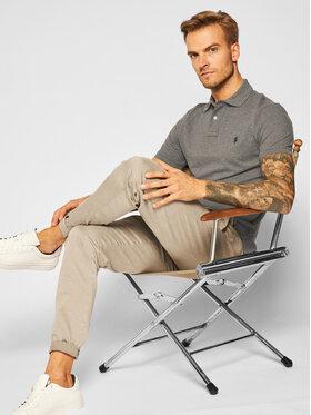 Polo Ralph Lauren Polo Ralph Lauren Тениска с яка и копчета Ssl 710680784192 Сив Slim Fit
