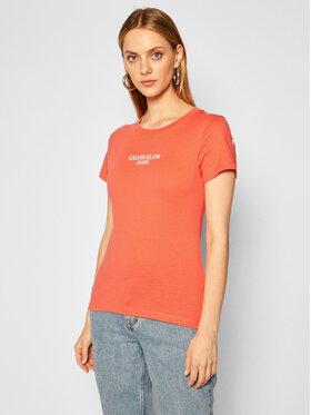Calvin Klein Jeans Calvin Klein Jeans T-Shirt J20J214232 Růžová Regular Fit