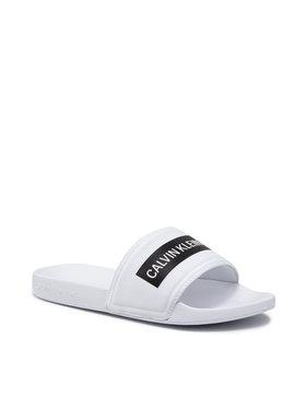 Calvin Klein Jeans Calvin Klein Jeans Mules / sandales de bain Slide Tape Inst Co YM0YM00257 Blanc