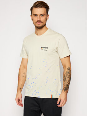 Local Heroes Local Heroes T-Shirt Spray Polaroid LHPLT0008 Beżowy Regular Fit