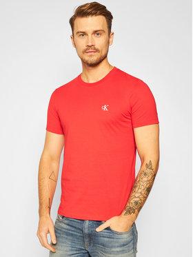 Calvin Klein Jeans Calvin Klein Jeans Marškinėliai Essential J30J314544 Raudona Slim Fit