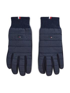 Tommy Hilfiger Tommy Hilfiger Pánské rukavice Th Established Mix Nylon Gloves AM0AM07884 Tmavomodrá