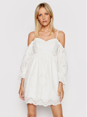 Rinascimento Rinascimento Sukienka letnia CFC0103587003 Biały Regular Fit