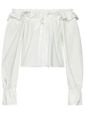 NA-KD NA-KD Блуза Ruffle 1018-006842-0001-581 Бял Regular Fit