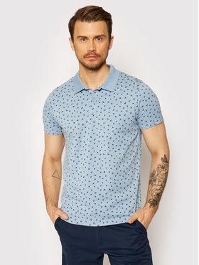 Jack&Jones Jack&Jones Тениска с яка и копчета Minimal 12182881 Син Regular Fit