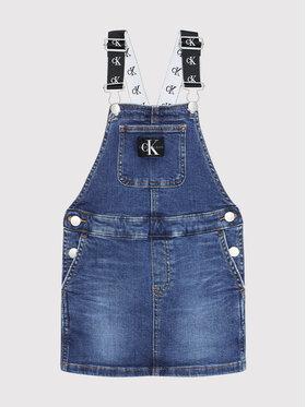 Calvin Klein Jeans Calvin Klein Jeans Každodenné šaty Denim Dungaree IG0IG01205 Tmavomodrá Regular Fit