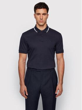 Boss Boss Тениска с яка и копчета Parlay 104 50448657 Тъмносин Regular Fit