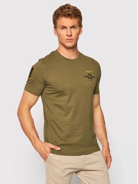 Aeronautica Militare Aeronautica Militare T-shirt 212TS1902J511 Vert Regular Fit