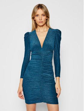 Pinko Pinko Koktejlové šaty Ciclone PE 21 BLK01 1G15X8 8378 Modrá Slim Fit