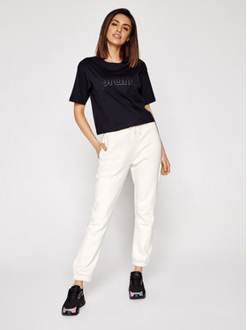 Sprandi Sprandi T-Shirt SS21-TSD006 Czarny Cropp Fit