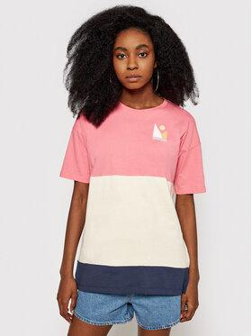 Roxy Roxy T-Shirt Addicted To Joy ERJZT05149 Kolorowy Regular Fit