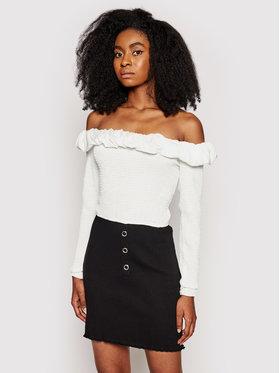 NA-KD NA-KD Bluzka Off Shoulder Top 1018-006810-0001-581 Biały Regular Fit