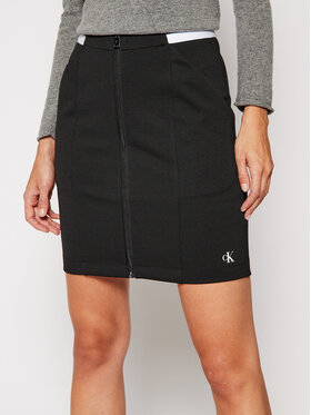 Calvin Klein Jeans Calvin Klein Jeans Mini sukňa J20J214946 Čierna Slim Fit