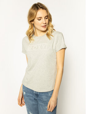 Roxy Roxy T-Shirt Epic Afternoon ERJZT04808 Szary Regular Fit