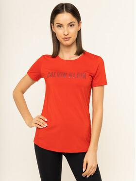 Calvin Klein Performance Calvin Klein Performance Marškinėliai Short Sleeve 00GWS9K157 Raudona Slim Fit