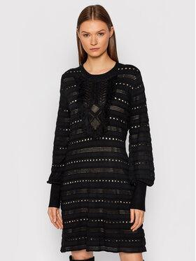 TWINSET TWINSET Sukienka dzianinowa 212TP3311 Czarny Slim Fit