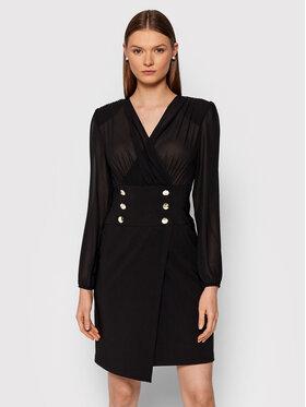 Rinascimento Rinascimento Koktejlové šaty CFC0105049003 Čierna Slim Fit