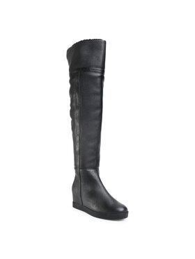 Calvin Klein Calvin Klein Μπότες πάνω από το γόνατο Florencia B4E00200 Μαύρο