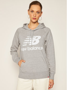 New Balance Mikina Esse po Hoodie NBWT0355 Sivá Relaxed Fit