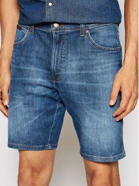 Wrangler Wrangler Szorty jeansowe Texas W11CQ148R Niebieski Slim Fit