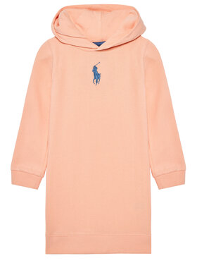 Polo Ralph Lauren Polo Ralph Lauren Každodenní šaty Hood Flc Drs 312837221003 Oranžová Regular Fit
