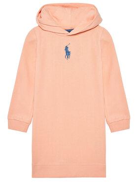 Polo Ralph Lauren Polo Ralph Lauren Sukienka codzienna Hood Flc Drs 312837221003 Pomarańczowy Regular Fit