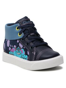 Clarks Clarks Auliniai batai City Scare T 261576757 Tamsiai mėlyna