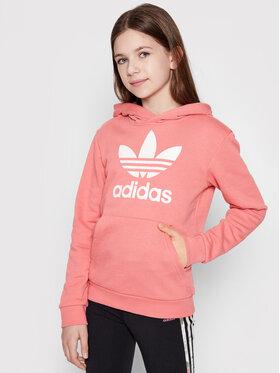 adidas adidas Bluza Trefoil GN8258 Różowy Regular Fit