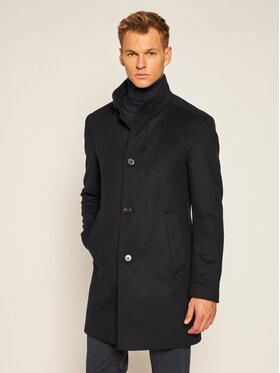 Joop! Joop! Vlnený kabát 17 JC-21Maron 30022586 Tmavomodrá Slim Fit