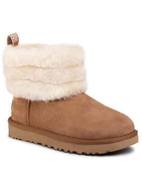 Ugg Ugg Buty W Fluff Mini Quilted 1098533 Brązowy