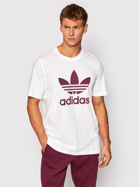 adidas adidas T-Shirt adicolor Classics Trefoil H06637 Biały Regular Fit