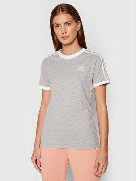 adidas adidas T-Shirt adicolor Classics 3-Stripes H33576 Szary Standard Fit