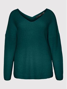 Vero Moda Curve Vero Moda Curve Светр Lea 10252754 Зелений Regular Fit
