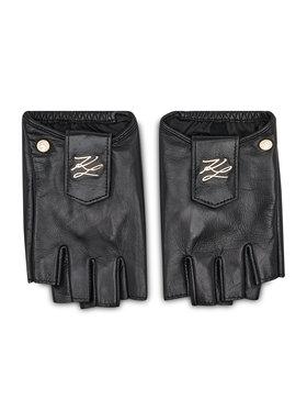 KARL LAGERFELD KARL LAGERFELD Dámske rukavice 211W3601 Čierna