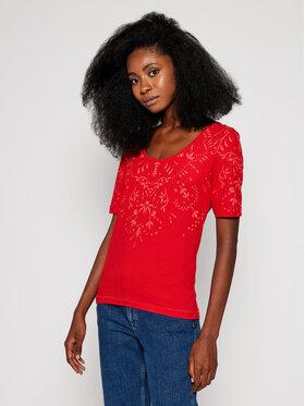 Desigual Desigual T-Shirt Lyon 20WWTKAR Červená Regular Fit
