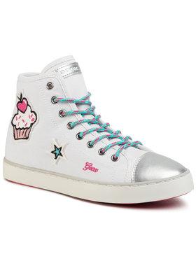 Geox Geox Sneakers aus Stoff J Clak G. D J0204D 00010 C0653 D Weiß