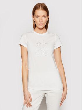 Marella Marella T-Shirt Cuba 39710315 Biały Regular Fit