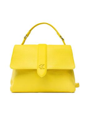 Calvin Klein Jeans Calvin Klein Jeans Дамска чанта Soft Satchel K60K608229 Жълт