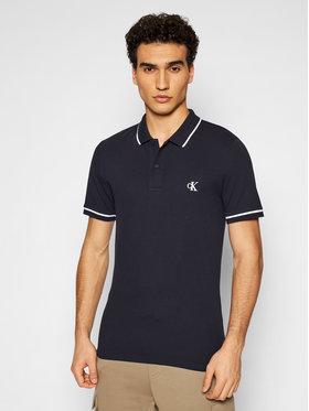 Calvin Klein Jeans Calvin Klein Jeans Тениска с яка и копчета J30J315603 Тъмносин Slim Fit